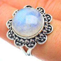 Rainbow Moonstone 925 Sterling Silver Ring Size 8.25 Ana Co Jewelry R47348F