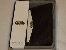 Fossil Omega wallet card case RARE ML3533201 dark brown leather men's credit ID