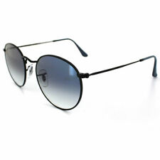 RayBan Round Metal Sunglasses - Black Light Blue Gradient - 3447 006/3F 50-21