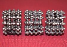 Antique Ethnic Silver Yemeni Handcrafted Bedouin Fabricated Beads From Yemen