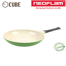 [NEOFLAM]ECOLON Coating Cube 28cm Fry Pan Leaf Green Non-stick Natural Coating