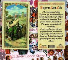St. Saint Luke with Prayer - Laminated  Holy Card