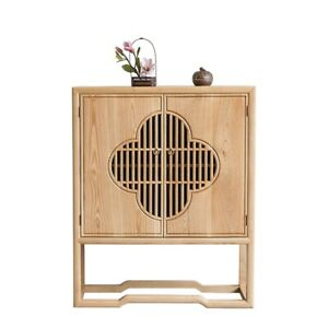 Walnut Chinese style Storage Cabinet Tea cabinet Wood End Table Console #1569