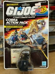 1987 Mountain climber Cobra action pack GI Joe 3.75 new on card NOC, complete