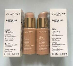 Clarins Skin Illusion Foundation  -15ML- Various Shades- Free Post-