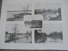 Printed photos The Great Floods in kansas 1903 ref Al
