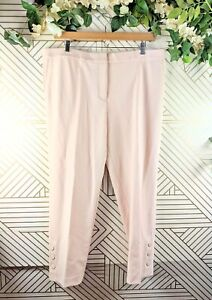 Ann Taylor The Ankle Mid Rise Trousers Light Pink Size 18 Tall NEW