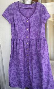 Hawaiian MuuMuu | Medium Large | Purple Two Tone Midi Hawaii MuMu Dress