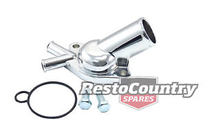 Holden Chrome V8 TWIN Pipe Thermostat Housing Water Outlet 253 308 O-Ring Seal