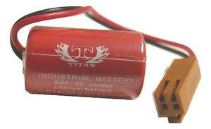 Sanyo CR14250SE 3V Lithium Battery w/ Burn Plug, 2 Year Warranty, Fast Shipping