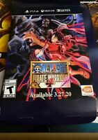 Game Stop One Piece Pirate Warriors 4 promo Display Box Poster,one Punch Man