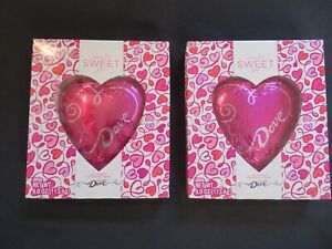 (2) Count Lot Of Dove Silky Smooth Solid Milk Chocolate Hearts 4 Oz Each #O