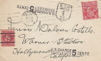 APH1034) Australia 1928 Interesting postal history item for Australian and US