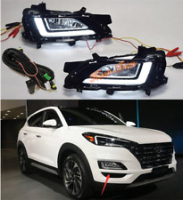 Car Accessory Fit For Hyundai Tucson 2019-2020 L+R Front bumper fog lamp Kit DRL