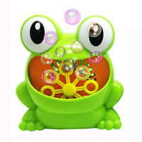 Kids Portable Bubble Machine Blower Birthday Party Toy Gift Frog Bubble outdoor