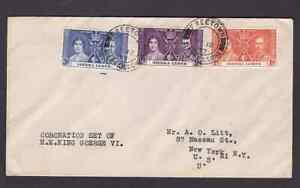 Sierra Leone 1937 FDC 1st day cover to the USA KGVI coronation