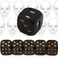Game Dice Grinning Black Skull Deluxe Devil Poker Play Table Games 5pcs Set