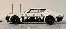 Hot Wheels Nissan Skyline GT-R  * UNSPUN * Real Riders + Plastic - White Police