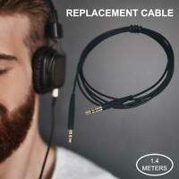 Black Replacement Audio upgrade Cable For Bose QC25 QC35 Headphone