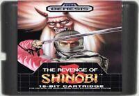 The Revenge of Shinobi (1989) 16 Bit Game Card For Sega Genesis / MD System