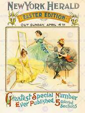 Pubblicità Giornale NEW YORK Herald 1897 Pasqua EDIZIONE USA POSTER STAMPA bb7952b