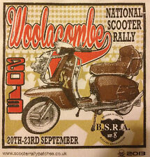 2013 OFFICIAL WOOLACOMBE  NATIONAL SCOOTER RALLY RUN PATCH not PADDY SMITH