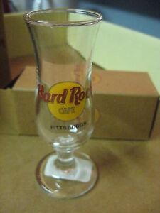 "Hard Rock Cafe 4"" Tall Double Shot Glass & Box Short Hurricane Pittsburgh # 46"