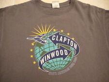 Eric Clapton Steve Winwood 2009 classic rock guitar concert tour T SHIRT S