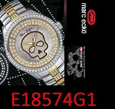 MARC ECKO MEN'S CRYSTALS THE VIBE SKULL WATCH E18574G1