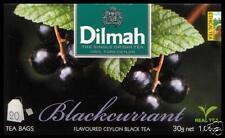 Dilmah Tee-BLACKCURRANT flavoured black Ceylon Tea 20 bustina del tè.