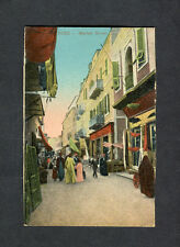 c1910 View of People & Shop Fronts, Market Street , Suez, Egypt