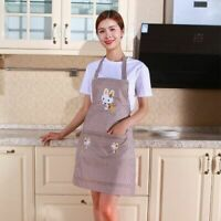 Women Men Chef Waiter Kitchen Apron Cartoon Cooking Cleaning Aprons