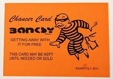 ORANGE BANKSY Chancer Card - Banksypoly 2011 - Graffiti Art / Street Art