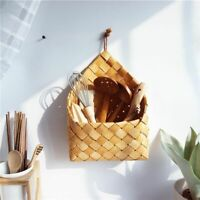 1X(Garden hand-woven wood basket weaving storage basket Fruit and vegetable6N8)