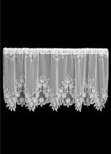 "Heritage Lace White TEA ROSE Window Tier 60""W x 24""L"