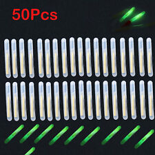 50pcs/10bags Green Night Fishing Light LED Fluorescent Dark Glow Sticks