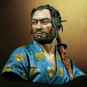 1/10 Ancient Japanese Samurai Bust Model Unpainted Garage Kits Resin Unassembled
