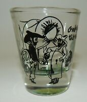 Vintage - One For The Road - Shot Glass - Western Theme Chuckwagon Cowboys