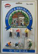 MODEL POWER O GAUGE MASON'S & BRICKLAYERS construction workers figure MPW 6181