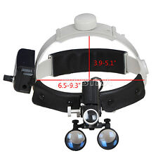 3.5X-R Dental Lab Medical With LED Headlight Headband Binocular Loupes.