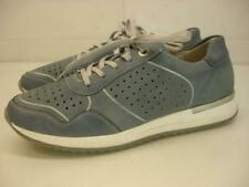 Women's 9 9.5 40 Rieker Remonte Soft Low Top Sneakers Shoes Blue Leather Cut-Out