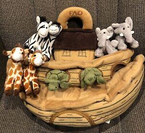 Stuffed Cloth Animals Designs Faithfull Noah Noah Arc New 17 Doll Uncut Christmas Decor Primitive Showers of Blessing