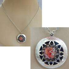 Necklace Fairy Locket Pendant Jewelry Handmade Cosplay Pill Box Stash Women New