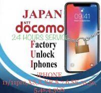 NTT DOCOMO Japan iPhone 11/11pro✅XS✅XR✅8,SE To3gs FACTORY UNLOCKING SERVICE FAST
