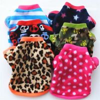 Small Pet Dog Clothes Coat Puppy Winter Fleece Vest Warm Shirt Sweater Apparel