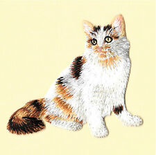 Cat - Kitten - Calico - Domestic Cat - Embroidered Iron On Applique Patch