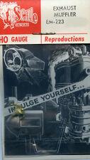 Original Cal-Scale HO EM-223 Exhaust Muffler- NOS