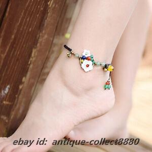 China Style Aventurine Jade/Agate/Glaze/Shellfish HandWoven Pretty Anklet Bangle