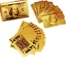 Washable Gold Foil Plastic Cards Golden Playing Cards 24K Plated Gold Foil Poker