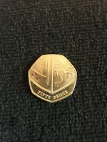 VERY RARE AND COLLECTABLE 2014 50p COIN EXCELLENT CONDITION